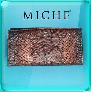 MICHE Bag Classic Jen Shell Only copper snakeskin